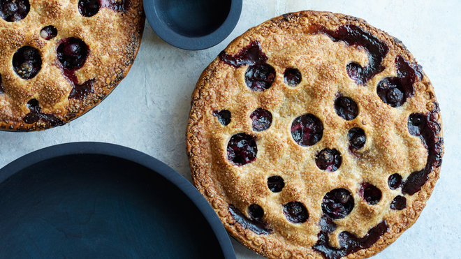 Food & Wine: Blueberry Pie with Rye Crust