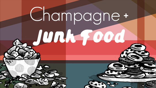 Food & Wine: Champagne and Junk Food