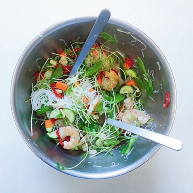 Food & Wine: Glass Noodle Salad with Roasted Shrimp