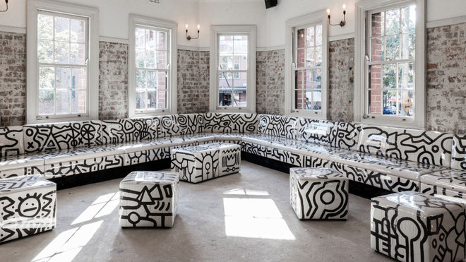 Food & Wine: This Iconic Sydney Hotel Features Keith Haring-Inspired Furniture