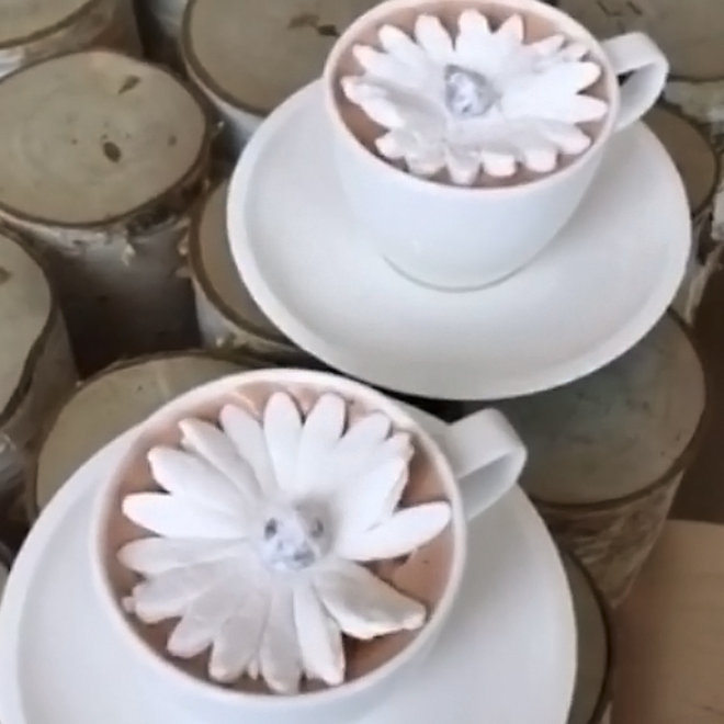 Food & Wine: Marshmallow Flowers