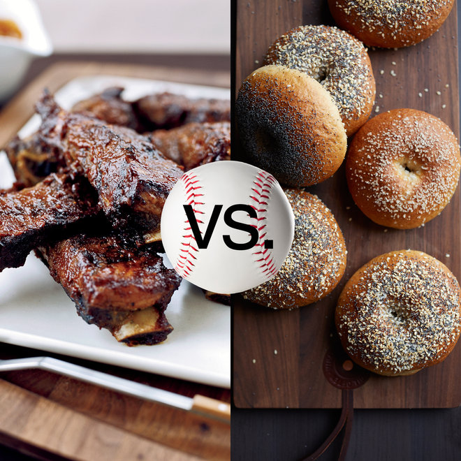 Food & Wine: Ribs vs Bagels