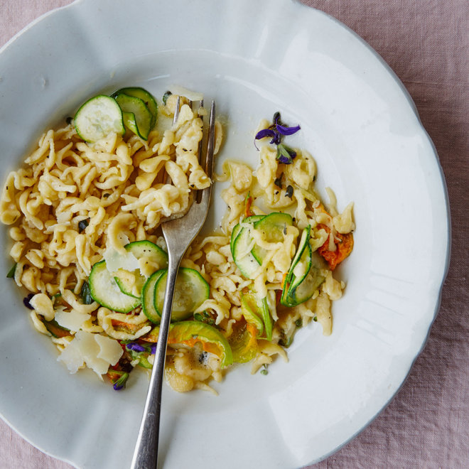 Food & Wine: Friulian Pasta with Zucchini and Zuchini Flowers