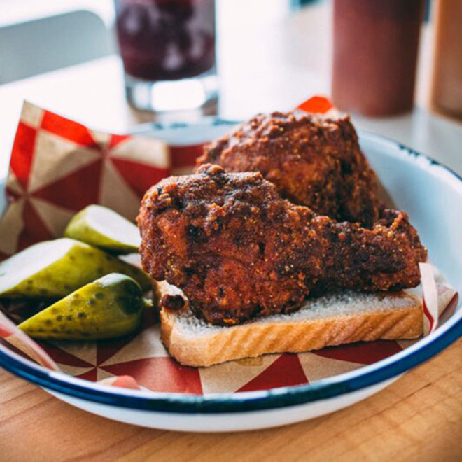 FWX HANGOVER CURES HOT CHICKEN SANDWICH