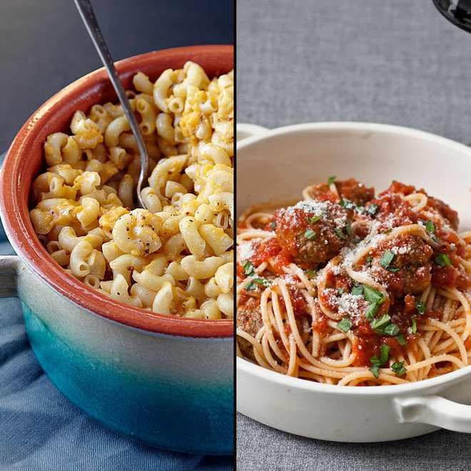 FWX MAC AND CHEESE VS SPAGHETTI AND MEATBALLS