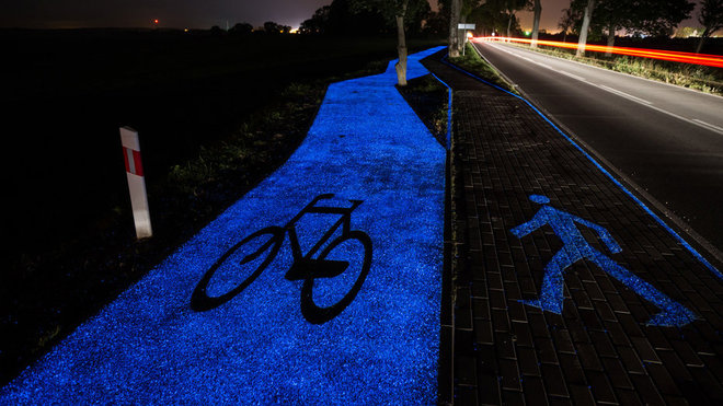 Food & Wine: Glow in the Dark Bike Paths