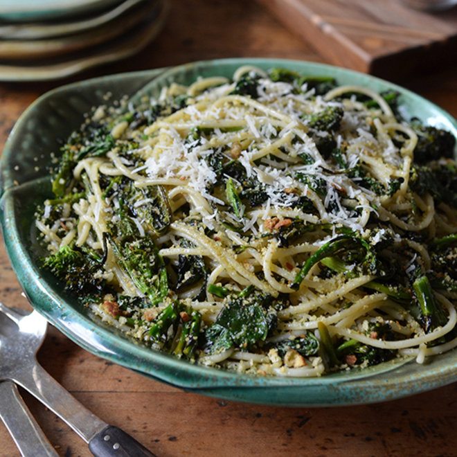 Food & Wine: Charred Broccoli Rabe with Chitarra and Lemony Bread Crumbs