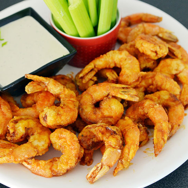 Food & Wine: Firecracker Shrimp with Blue Cheese Dressing