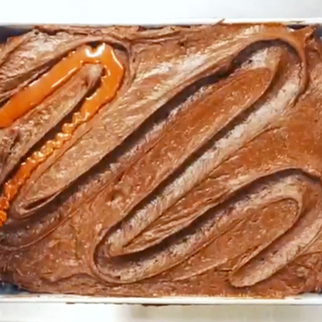 These Brownies Have a Moat of Sriracha Caramel