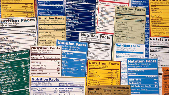 Food & Wine: nutrition labels