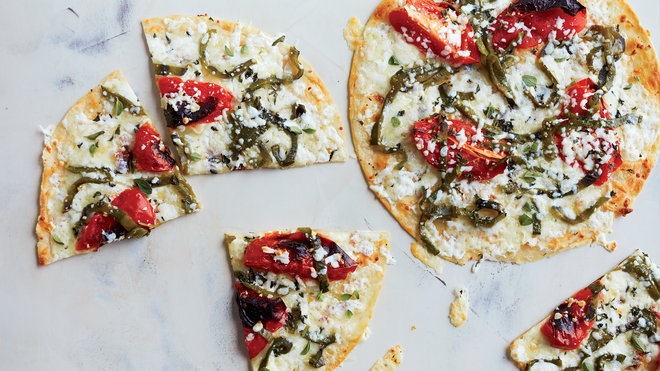 Food & Wine: Open-Face Four-Cheese Quesadillas
