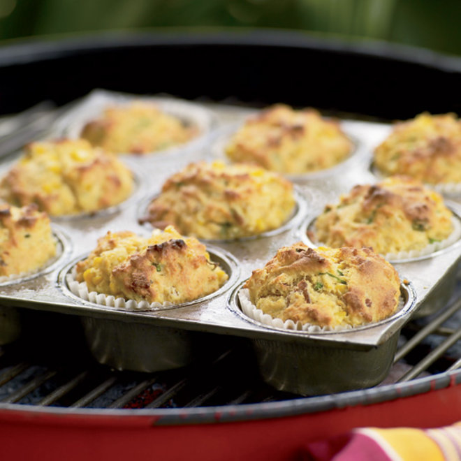 Food & Wine: Grill-Roasted Bacon-and-Scallion Corn Muffins