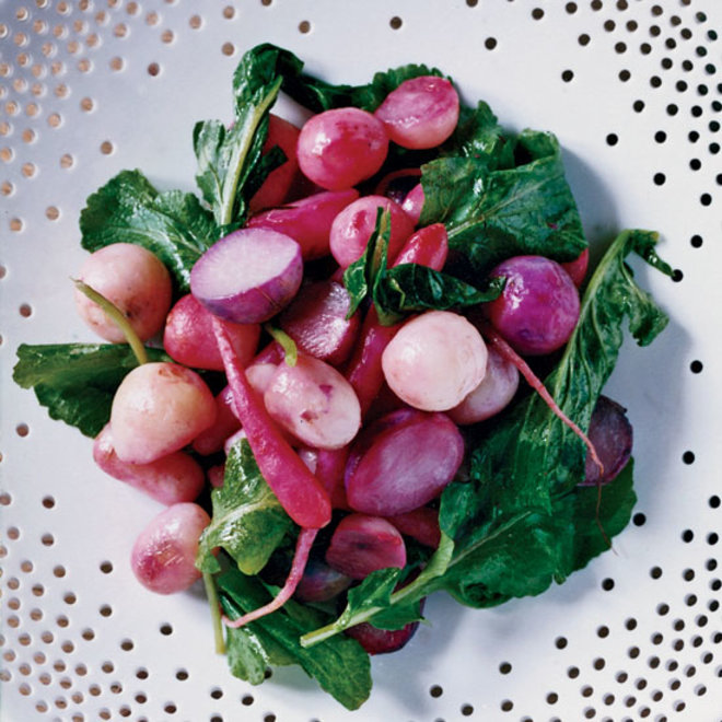 Food & Wine: Roasted Radishes with Radish Greens