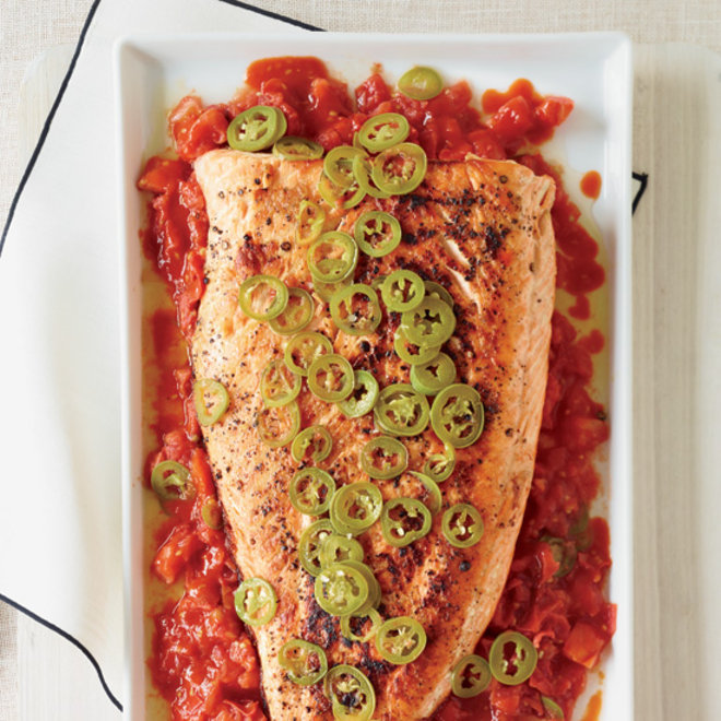 Food & Wine: Grilled Salmon with Melted Tomatoes