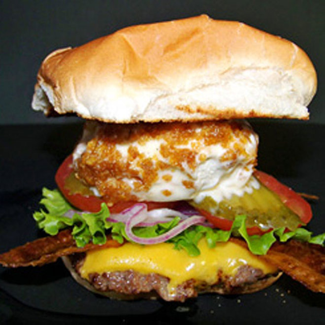 Food & Wine: The Florida State Fair's Famous Cheeseburger with Fried Ice Cream.