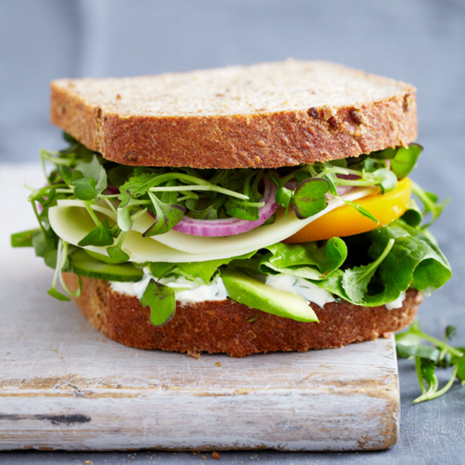 Food & Wine: Vegetable Sandwich with Dill Sauce