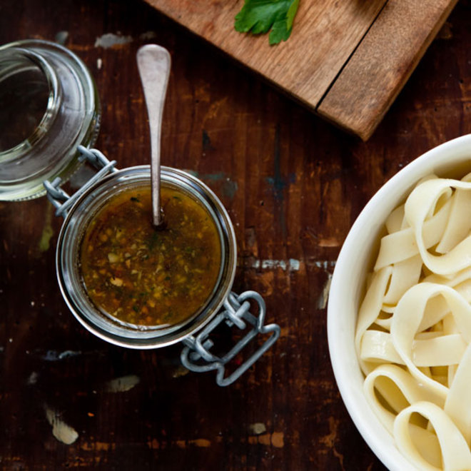 Food & Wine: Hazelnut Green Olive Pesto