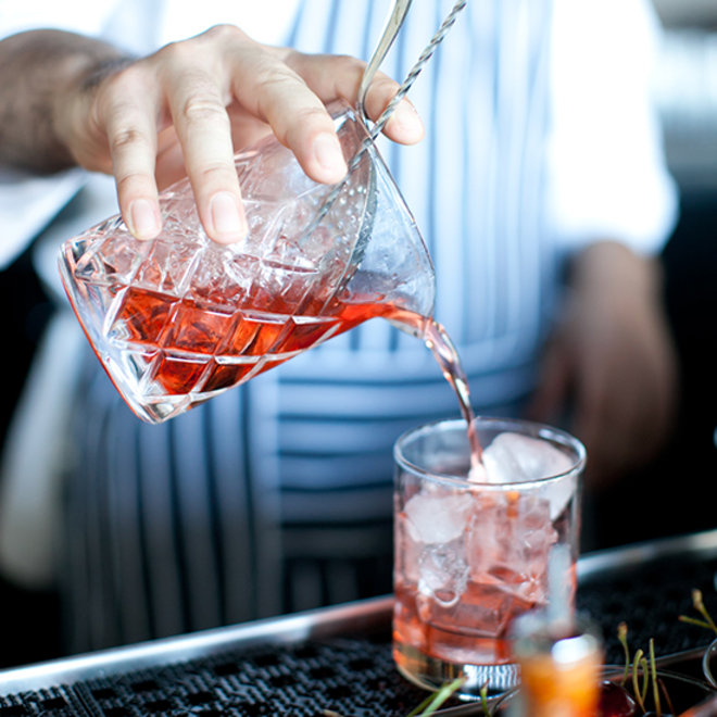 Food & Wine: Drink Being Poured