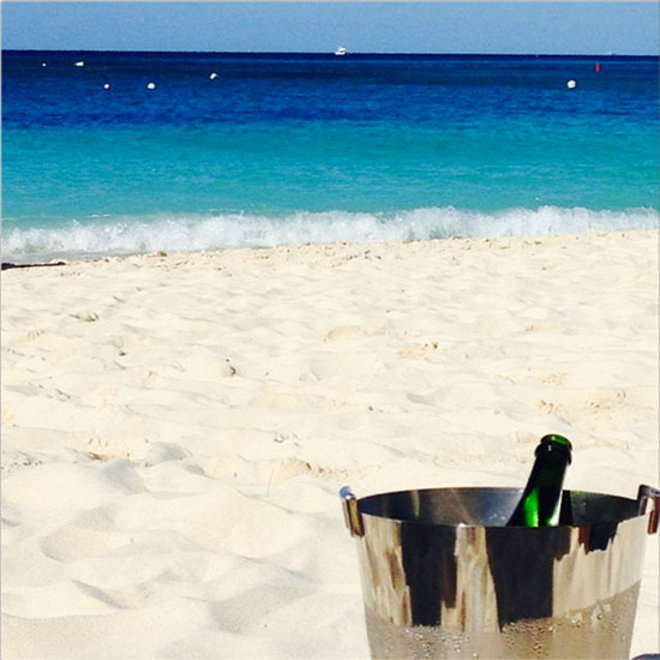 Food & Wine: F&W Editors Drink Champagne on the Beach