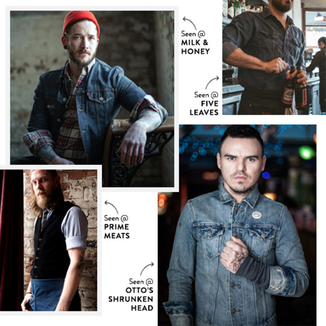 Food & Wine: America's Best Bartenders are Crazy for Denim