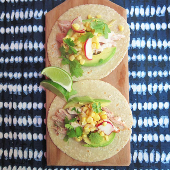 Food & Wine: Chicken Tacos with Corn Salad
