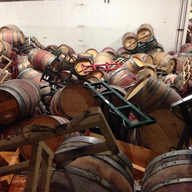 Food & Wine: Fallen Wine Barrels