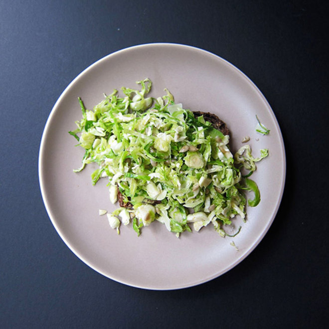 Food & Wine: Avocado Toast with Brussels Sprouts, Pecorino and Sunflower Seeds