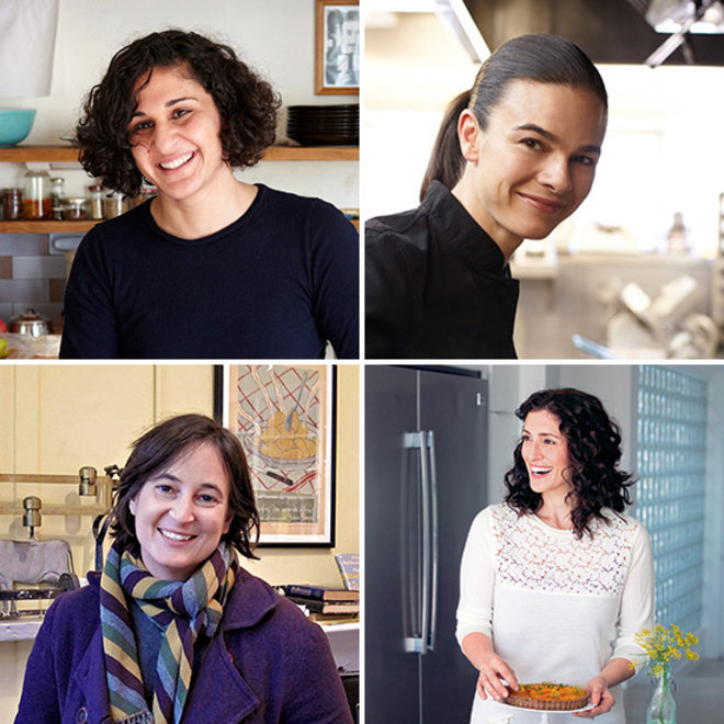 Food & Wine: Clockwise from Top Left: Samin Nosrat, Suzanne Goin, Aran Goyoaga, Celia Sack
