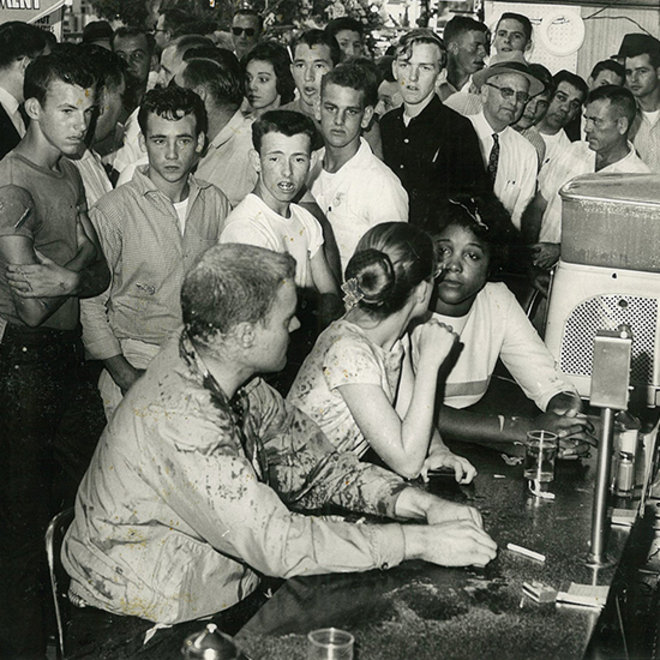 Food & Wine: May 1963: Tougaloo College students stage a sit-in at the Woolworth's lunch counter in Jackson, MS.