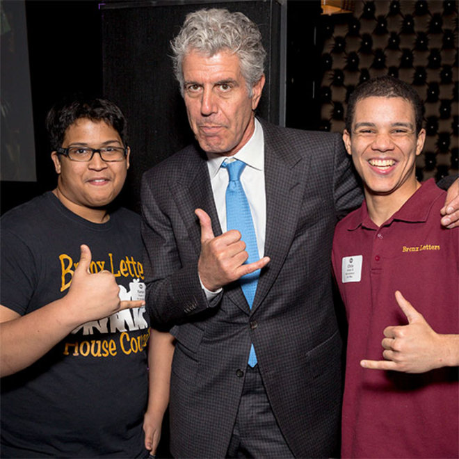Food & Wine: Screw Golf, Tony Bourdain Wants to Teach When He Retires, Amazes at the Impact of Bronx Academy of Letters