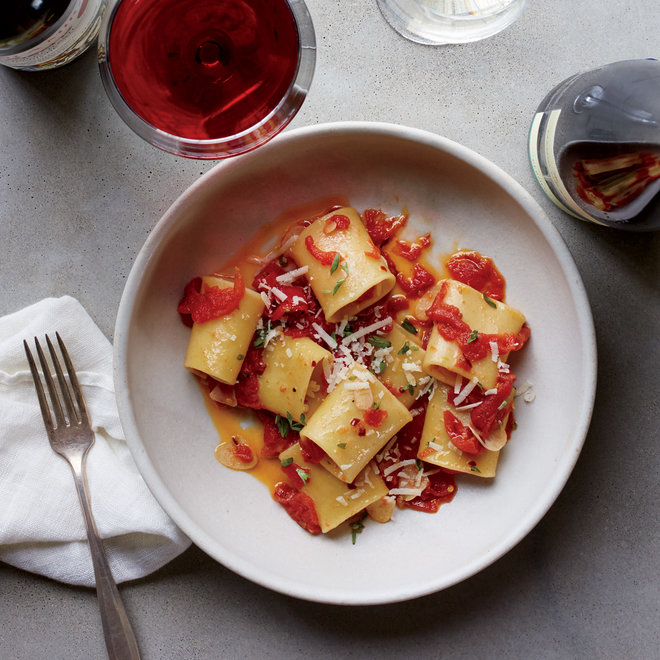 Food & Wine: Preserved Tomato Paccheri