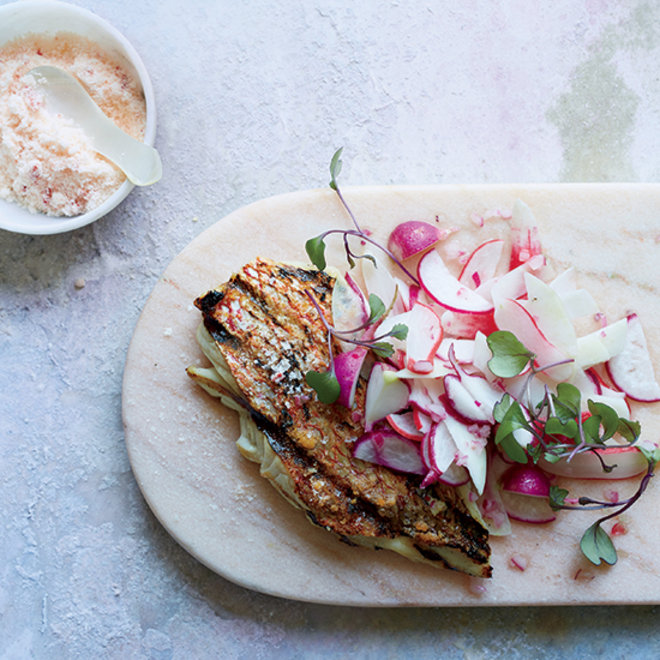 Food & Wine: Grilled Snapper with Pink Chile Salt