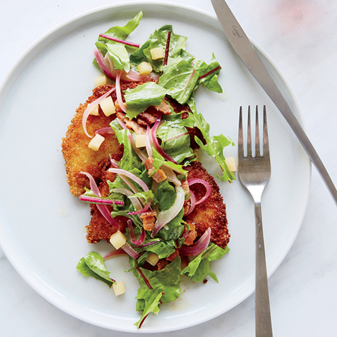 Food & Wine: Pork Milanese with Dandelion Salad