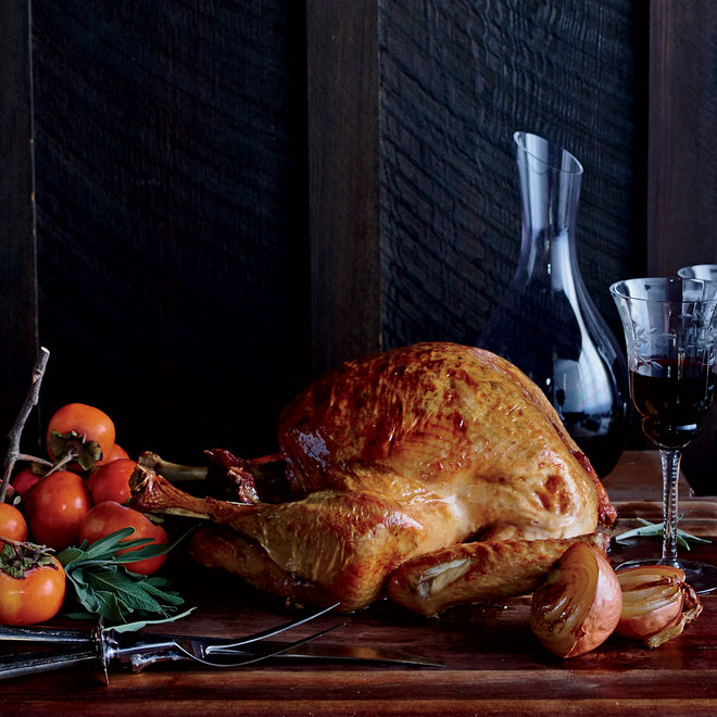 Food & Wine: Roast Turkey with Polenta Stuffing