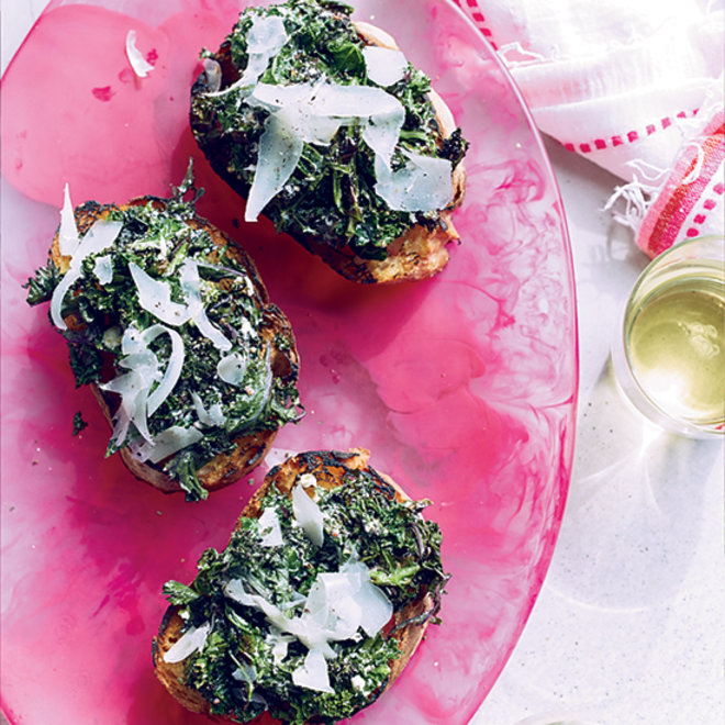 Food & Wine: Grilled Kale Toasts