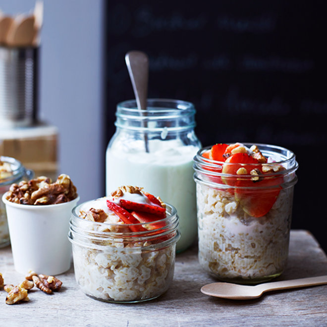 Food & Wine: Oatmeal with Strawberries, Toasted Walnuts, and Skyr