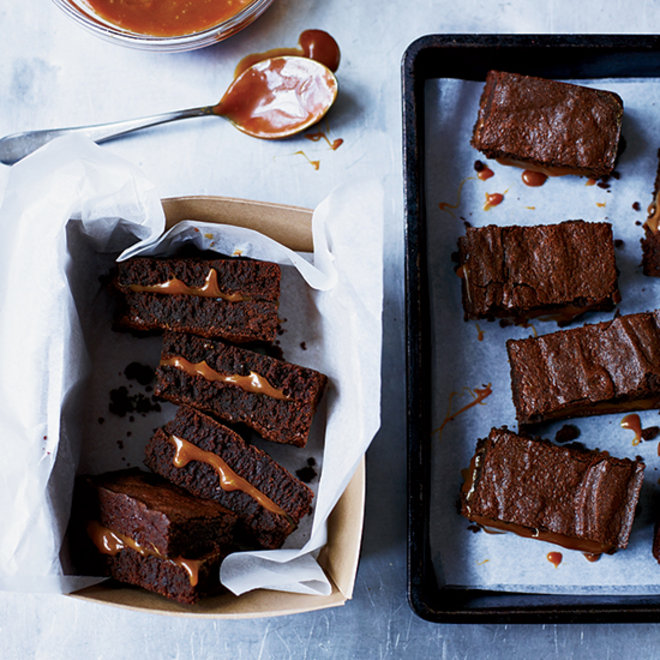 Food & Wine: Salted caramel-filled fudge brownies