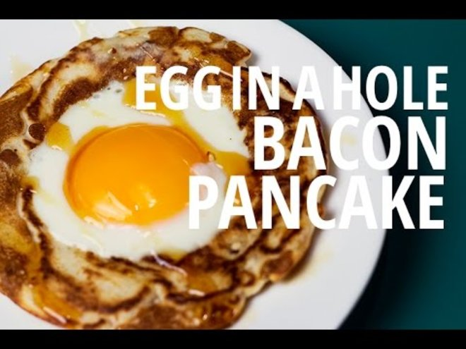 How to Make an Egg in a Hole Bacon Pancake