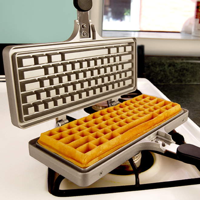 Food & Wine: Keyboard Waffle Iron
