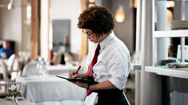 Food & Wine: waiters codes for customers