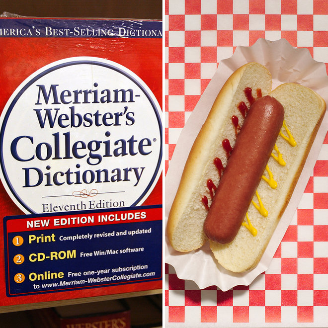 Webster's, Dictionary, Sandwich, Hot Dog