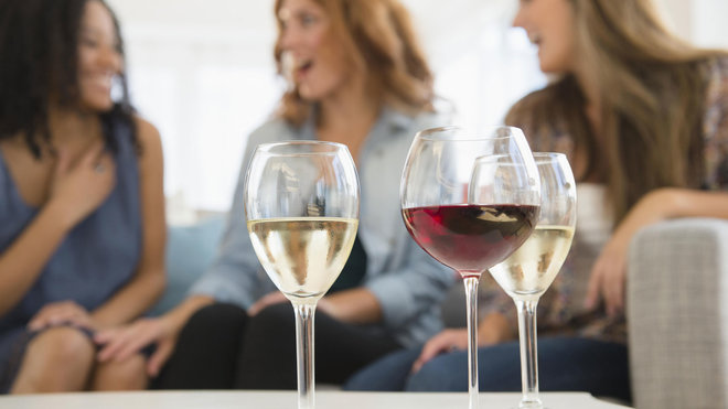 Food & Wine: women drinking wine