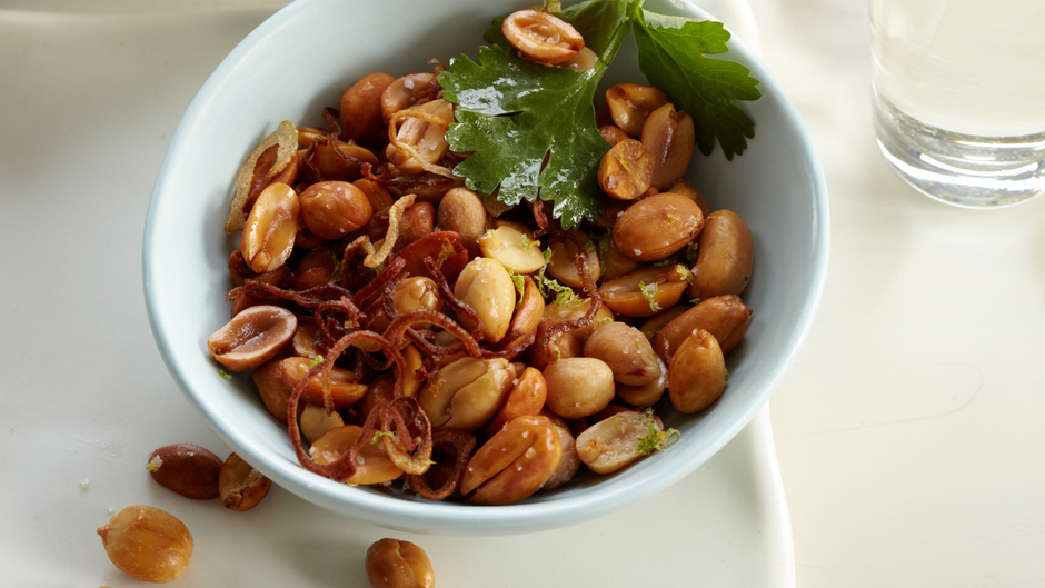 asian fried peanuts superbowl