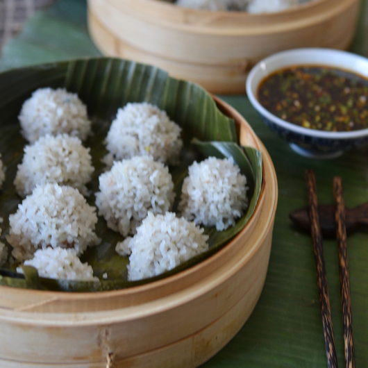 Food & Wine: Andrew Zimmern's Pearl Rice Balls with Ginger-Sesame Sauce