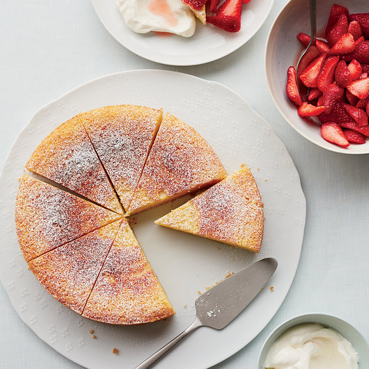 Ricotta Orange Pound Cake With Prosecco Strawberries