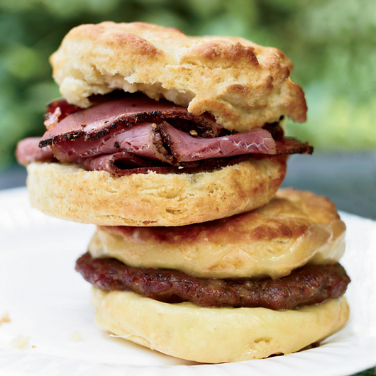 Food & Wine:  The Best Part of Waking Up is an Oversize Biscuit Stuffed with Pastrami