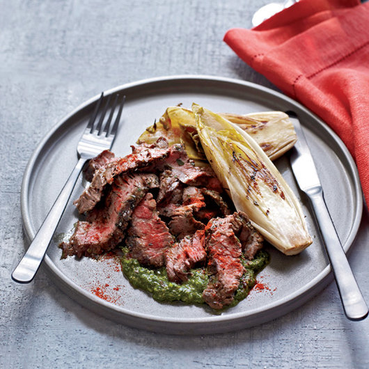 Food & Wine: Mario Batali's Grilled Skirt Steak with Salsa Verde