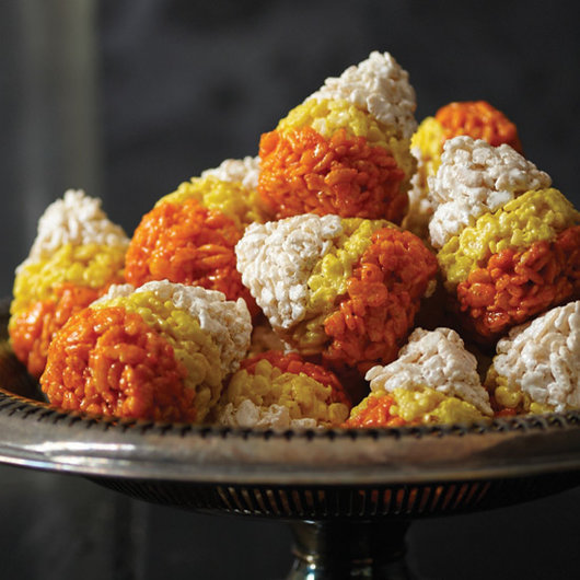 Spiced Candy Corn Crispies