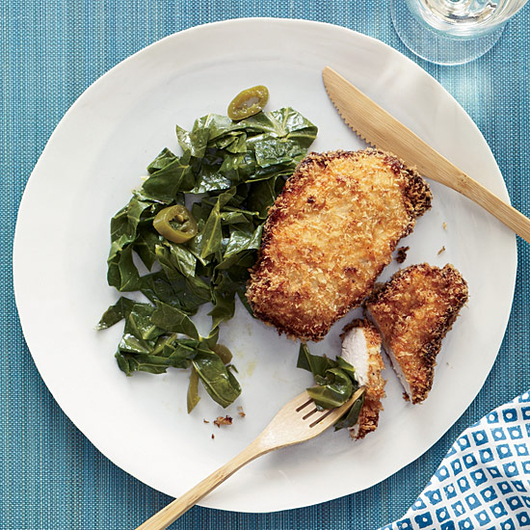 Food & Wine: Coconut Chicken with Pickled Pepper Collards
