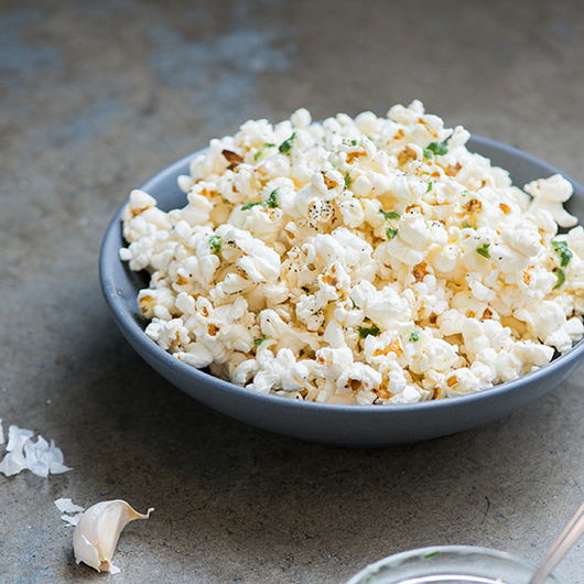 Food & Wine: Garlic-Parlsey Butter Popcorn